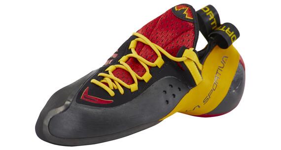 La Sportiva Genius Climbing Shoes Unisex Red/Yellow